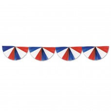 Fan Garland Red/White/Blue
