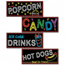 Neon Food Sign Cut Outs
