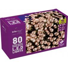 LED Twinkle Lights - Warm White - 80 bulbs