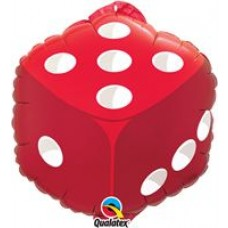 Foil Dice Balloon 18""