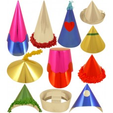 Miniature Foilboard Party Hats