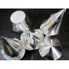 Silver assorted Foilboard Hats