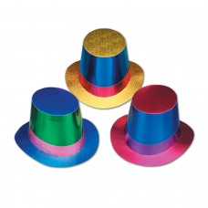 Foil Top Hats - Assorted Colour
