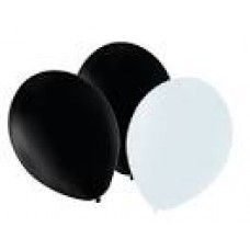 "12"" Balloons - Black/White"