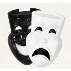 Plastic Comedy/Tragedy Faces