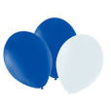 "12"" Balloons - Blue/White"