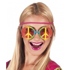 Hippy Peace Sign Glasses
