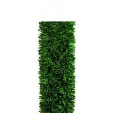 Chunky Matt Green Tinsel Garland 3m x 15cm 6-ply