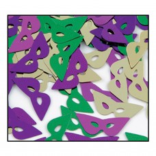 Mardi Gras Mask Table Confetti