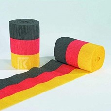 Crepe Roll - Red/Yellow/Black - Flame Retarded