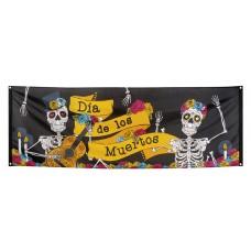 Polyester Banner Dia de los Muertos