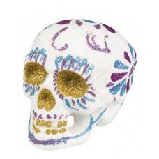 Sugar Skull Glitter - White