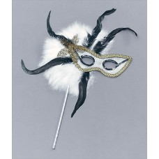 Feather Masks on Stick