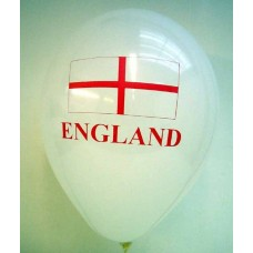 "One Side Print 12"" ""England"" Latex Balloons"