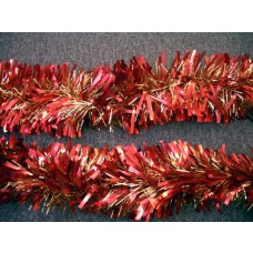 Extra Thick Tinsel Garland - Red/Gold