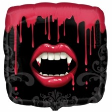 "Fangtastic 18"" Square Foil Halloween Balloon"