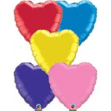 "18"" Heart Shape Foil Balloons - Asstd Colours"