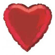 """31"""" Heart Shape Foil Balloons - Red"""