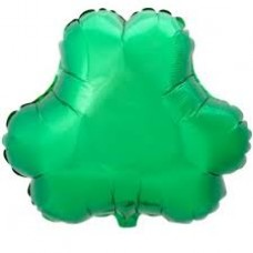 Green Foil Shamrock Shaped Balloon 18""