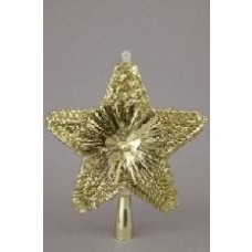 Glitter Tree Top Star - Gold 8""
