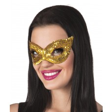 Sequin Eye Masks - Gold