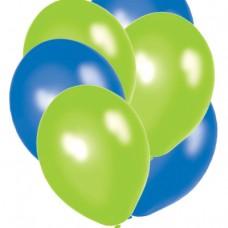 """12"""" Balloons - Blue/Green"""