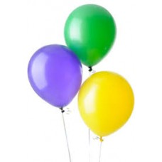 "12"" Balloons - Green/Yellow/Purple"