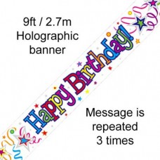 Happy Birthday Foil Banners