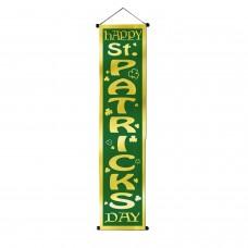 Happy St Patricks Day Velvet-Lame Door Panel