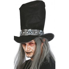 Halloween Top Hat with Hair
