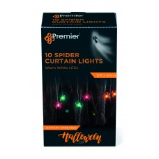 10 Warm White LED Spider Lights on Curtain