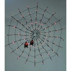 80cm 100 LED Spider Web with 2 Spiders