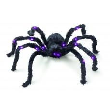 60cm Purple LED Furry Spider