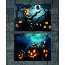 LED Pumpkin Canvas Print - Battery Operated