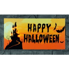 Happy Halloween LED Canvas Print - Battery Operated