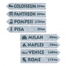 Italian Street Sign Cut Outs