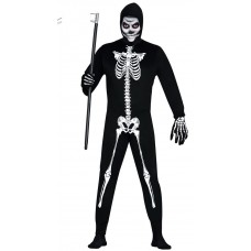 Male Skeleton Costume with Hood