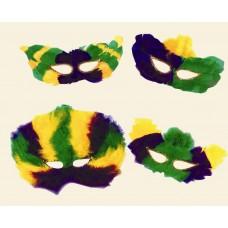 Mardi Gras Feather Eye Masks