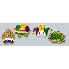 Mardi Gras Half Face Masks