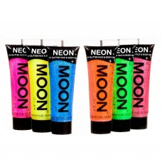UV Neon Glitter Face & Body Gel