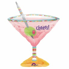 Olives Martini Glass Foil Balloon