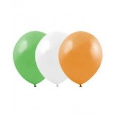 "12"" Balloons - Orange/White/Green"