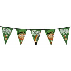 Giant PE St Patricks Day Pennant Bunting 8m