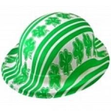 Shamrock Print Bowler Hat