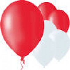 "12"" Balloons - Red/White"