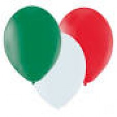 "12"" Balloons - Red/White/Green"