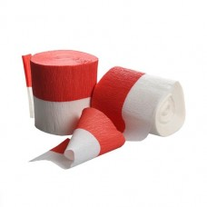Crepe Roll - Red/White - Flame Retarded
