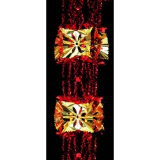 Rosette Garland - Gold/Red