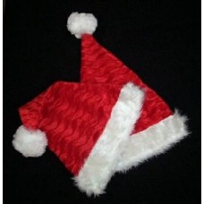 Plush Santa Hat with Fur Trim