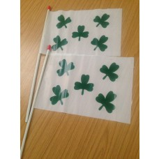 Hand Held Flags - Shamrock